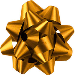 Shamrock Holiday Gold 14 Loop Star Bow - 2 3/4""