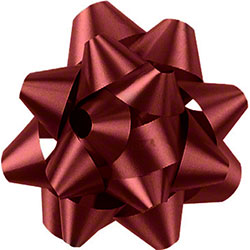 Shamrock Burgundy 14 Loop Star Bow - 2 3/4""