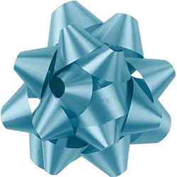 Shamrock Light Blue 14 Loop Star Bow - 2 3/4""