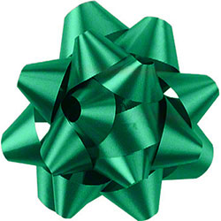 Shamrock Emerald 14 Loop Star Bow - 2 3/4""