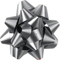 Shamrock Silver 14 Loop Star Bow - 2 3/4""
