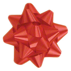 Shamrock Red 15 Loop Star Bow - 3 3/4""