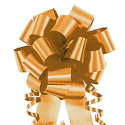 "Shamrock Flora-Satin® Bow - 4"", Holiday Gold"