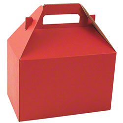 "Shamrock Really Red Gable Box - 8"" x 4 7/8"" x 5 1/4"""