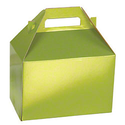 "Shamrock Shimmer Frost Leaf Gable Box - 8"" x 4 7/8"" x 5 1/4"""