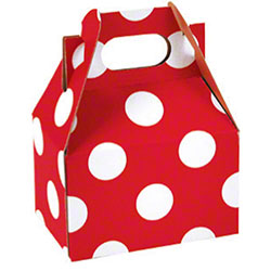 "Shamrock Cheery Dots Mini Gable Box - 4"" x 2 1/2"" x 2 1/2"""