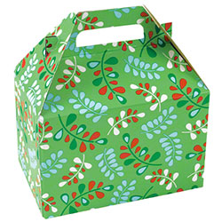 "Shamrock Christmas Kiss Gable Box - 8"" x 4 7/8"" x 5 1/4"""