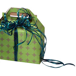 "Shamrock Dots Gable Box - 8"" x 4 7/8"" x 5 1/4"""