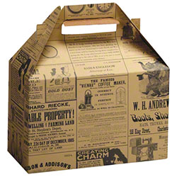 "Shamrock Newsprint Gable Box - 8"" x 4 7/8"" x 5 1/4"""