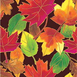 Shamrock Autumn Leaves Gift Wrap