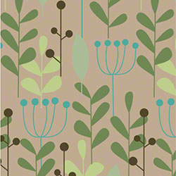 Shamrock Leaves & Berries/Kraft Gift Wrap