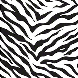 Shamrock Zebra Stripes Gift Wrap