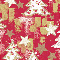 Shamrock Snowy Christmas Tree Gift Wrap