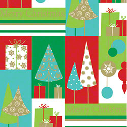 Shamrock Merry Christmas Trees Gift Wrap