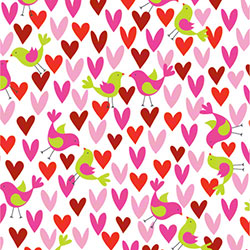 Shamrock Birds & Hearts Gift Wrap