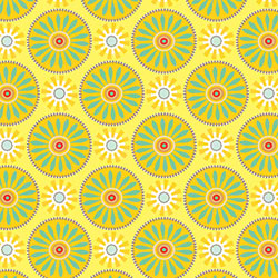 Shamrock Suzani Sunflowers Gift Wrap