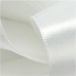 Shamrock White Double Face Satin Ribbon