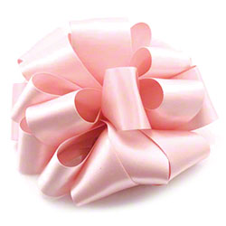Shamrock Pink Blush Double Face Satin Ribbon