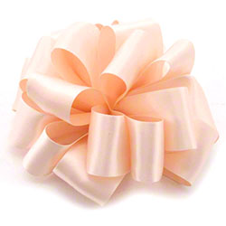 Shamrock Pale Peach Double Face Satin Ribbon
