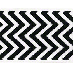Shamrock Chevron Grosgrain Ribbon - Black/White