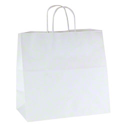 "Shamrock White Kraft Bag - 13"" x 7"" x 13"""