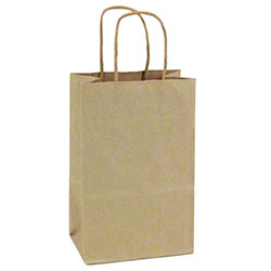 "Shamrock Natural Kraft Bag - 5"" x 3"" x 8"""