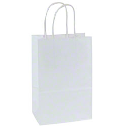 Shamrock 100% Recycled White Kraft Shopper - Toucan