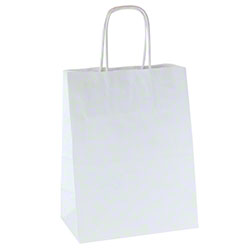 Shamrock 100% Recycled White Kraft Shopper - Chimp