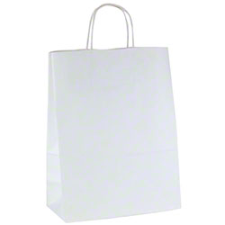 Shamrock 100% Recycled White Kraft Shopper - Antelope