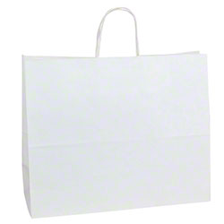 Shamrock 100% Recycled White Kraft Shopper - Jaguar
