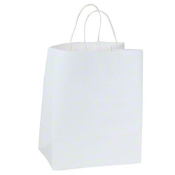 "Shamrock White Kraft Bag - 8"" x 6"" x 14"""
