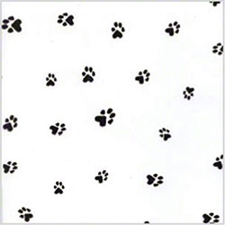 "Shamrock Paw Prints Cello - 30"" x 100', Roll"