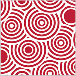 "Shamrock Red Lollipop Printed Tissue - 20"" x 30"""