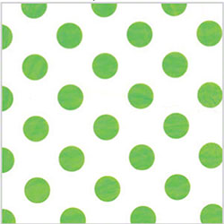 "Shamrock Polka Dot Lime Printed Tissue - 20"" x 30"""