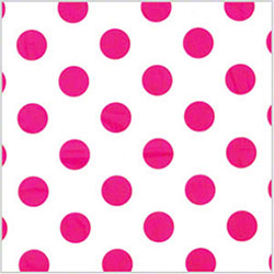 "Shamrock Polka Dot Hot Pink Printed Tissue - 20"" x 30"""