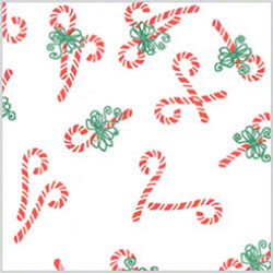 "Shamrock Christmas Candy Canes Printed Tissue - 20"" x 30"""