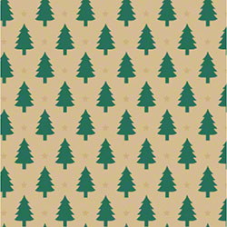 Shamrock Little Trees/Kraft Gift Wrap