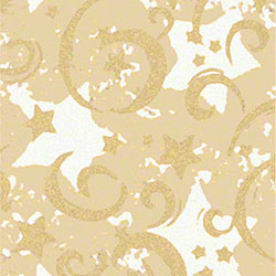 Shamrock Gold Stars & Swirls/Kraft Gift Wrap