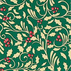 Shamrock Golden Holly Gift Wrap