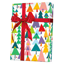 Shamrock Rainbow Christmas Gift Wrap - 833'