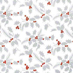 Shamrock White Holly Gift Wrap