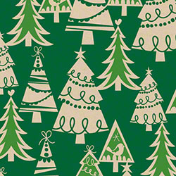 Shamrock Holiday Forest/Kraft Gift Wrap