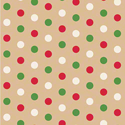 Shamrock Dotty Christmas/Kraft Gift Wrap