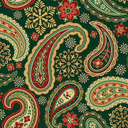 "Shamrock Holiday Paisley Gift Wrap - 24"" x 833'"
