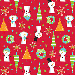 Shamrock Snow Buddies Reversible Gift Wrap
