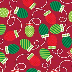 Shamrock Christmas Bulbs Reversible Gift Wrap