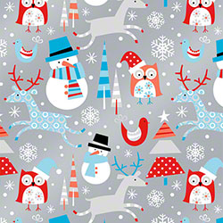 Shamrock Snowplay Reversible Gift Wrap