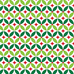 Shamrock Geo Holly Gift Wrap