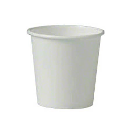 Solo® Single Poly White Paper Hot Cup - 4 oz.