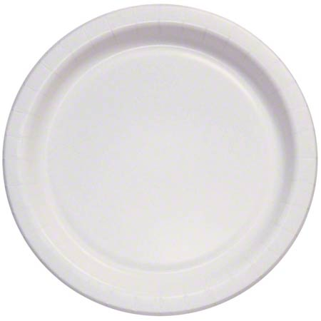 "Solo® Eco-Forward® White Plate -8.5"" Med. Wt, Deep Well"